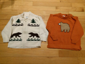 Baby Gap and Gymboree sweaters - size 18 to 24 months