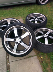 VOSSEN RIMS WITH STAGGERED SET UP TIRES