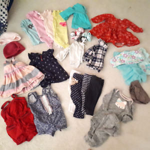 0-3 month  Girls Spring/ Fall weather lot EUC