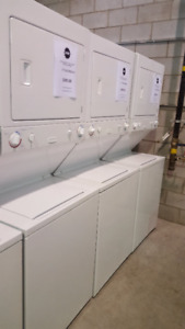 """27"""" ELECTRIC  STACKABLE WASHER DRYER 27"""" GAS  STACKABLE"""