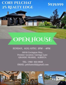 ~ OPEN HOUSE TODAY FROM 2-4PM, Aug. 13 ~