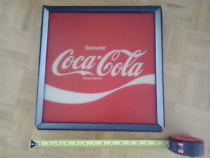 Affiche Coke Coca Cola machine vending Cavalier CS 96 vintage