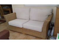 2 str wicker sofa