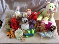 large job lot of 18 beanie babies and a collectors box only £15