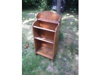 Unusual wooden bookshelf (Possibly church/bible) original condition not sanded painted etc