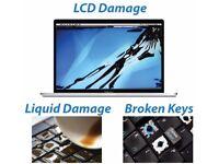 MacBook Broken Screen and Liquid spills Damage Repair specialist. we come to you..