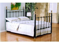 Victorian style king sized bed frame - as new.