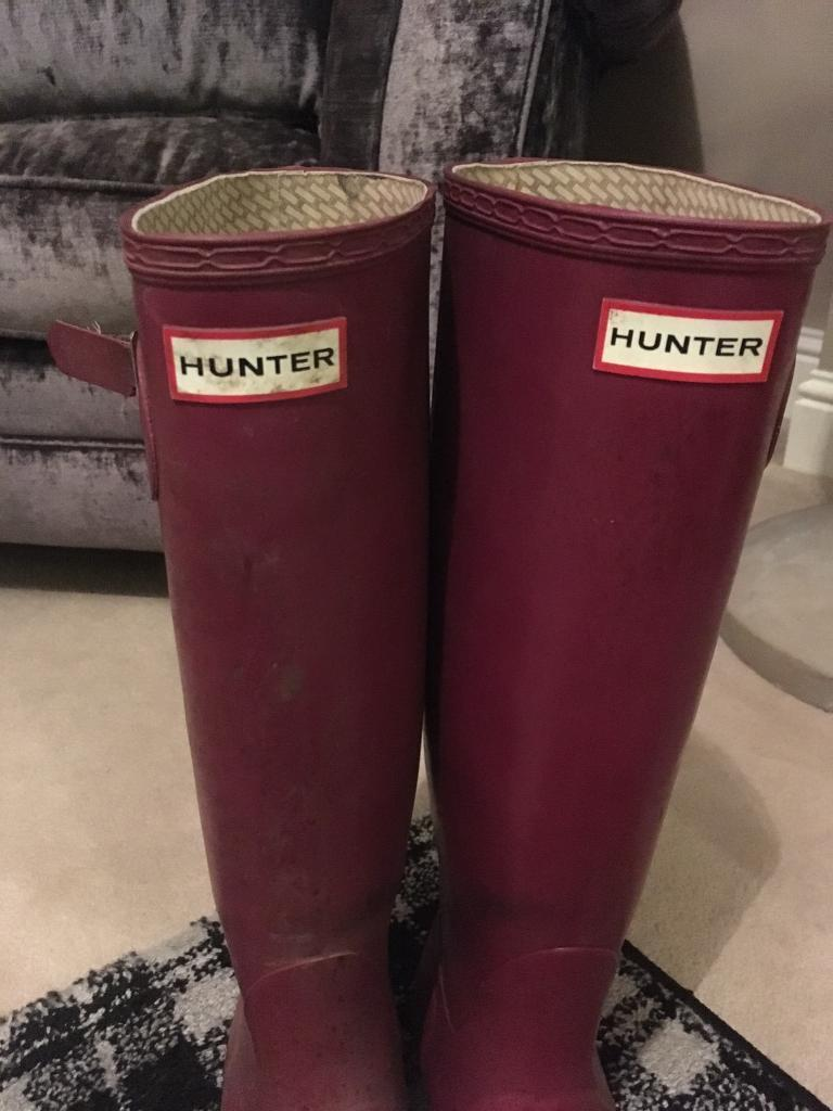 Hunter boots/wellies size 6 authentic 100%