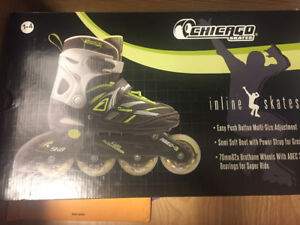 Kids Adjustable Rollerblades, Sizes 1-4