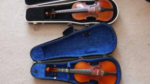 1/4 violin, djembe, accordion. skb parlor case