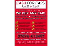 CARS/VANS BROUGHT FOR CASH *** BOURNEMOUTH, POOLE & SURROUNDING AREAS** FRIENDLY RELIABLE SERVICE **