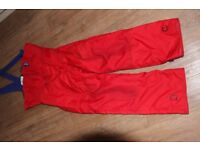 Sailing Salopettes, Medium,Red, make Innhof,