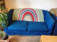Blue sofa-bed - £10 collection only