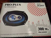 Pro-Plus JS-6933 300 Max power Car Speakers boxed (as new)