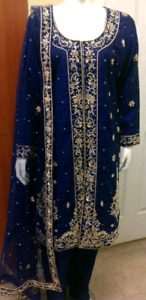 Ladies dress for wedding or party blue