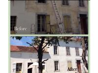 Heavy duty cream masonry paint