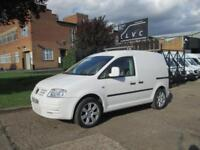 2008 08 VOLKSWAGEN CADDY 2.0SDI C20 DIESEL. 17'' ALLOYS. COLOUR CODED. SPORT LOO