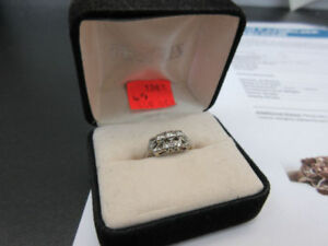 ** $2,173.00 VALUE ** Vintage 14K White Gold Ring Size 6.5