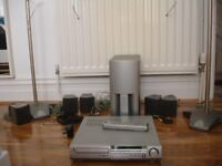 Sony 5.1 DVD Player with speaker stands