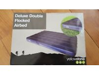 Deluxe Double flocked airbed brand new