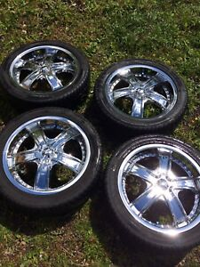 17 inch chrome(pitted) rims w/low profile tires