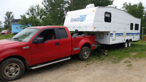 FOR SALE TRUCK AND A 1995 PROWLER CAMPER FIFTH WHEEL