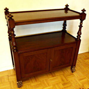 A unique server/sideboard, large, 2 tier, refinished (Delivery)