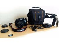 Camera Canon 1300D + Zoom Lens 18-55mm + Lowepro bag + 32GB Memory Card