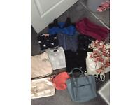 Women's clothes & bags river island,Zara, job lot/boot sale