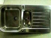 Stainless sink top with a mixer tap,bargain £25.00