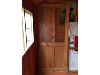Pine internal glazed door