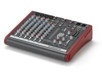 PA Allen & Heath ZED-10 Mixer in flight case Band / DJ desk controller