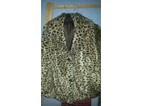 Gorgeous Miss Selfridge faux fur coat. Size 10.