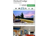 3 Night Stay 8th-11th September in 5* Hot Tub Orchard Lodge