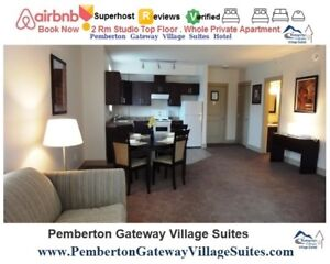 ♨ Hotsprings 4from$59.75/ea/night 2Rm Studio Whistler-Pemberton
