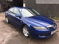 Mazda 6 TS D, 2.0 DIESEL, 06/56 Reg, BRAND NEW MOT, NEW CAMBELT & TURBO, 6 Speed, 5 Dr Hatch, Blue