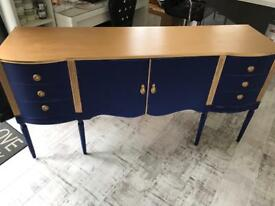 Blue/gold shabby chic sideboard