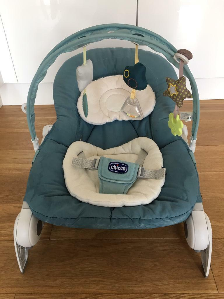 Chicco Bouncerin Woolwich, LondonGumtree - Chicco Hoopla Bouncer. £5Used good condition. Some surface stains, has been clean (can see water marked) but you can do a proper clean. Pet and smoke free home. You can search and read more description of this exact one from Argos. Pick up woolwich....