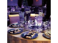 Chair cover hire, cutlery and glassware hire , venue decoration, fresh flower
