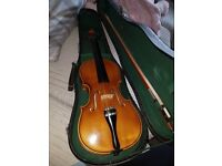 3/4 violin, includes bow, rosin & case