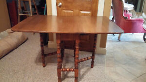 Antique solid walnut gateleg table