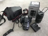 Canon 1200D SLR with 18-55mm & 55-250mm lenses