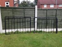 heavy iron garden gate and drive way gates with hindges