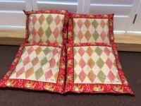 Beautiful Jim Thompson Silk Cushions - set of 4