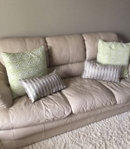 Like New Genuine Leather Sofa Set