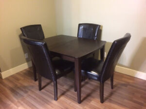 Black Kitchen Table - 4 Chairs - $120 OBO