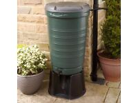 190 litre plastic Water Butt, stand & diverter kit. Save rainwater for the garden.