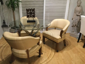 3  SMOOTH ROLING CHAIRS