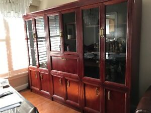 3-piece Cherry/ Solid Wood Wall Unit
