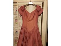 Dusky pink/Cerise Retro Bridesmaid Dress,